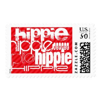 Hippie; Scarlet Red Stripes Postage