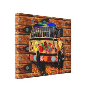 Hippie School Bus Canvas Print