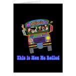 Hippie School Bus Greeting Card