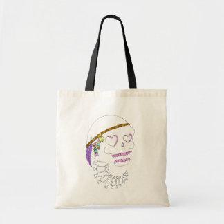 Hippie Skull Canvas Bag