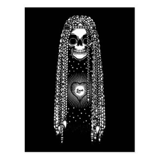 Hippie Skull of Love Postcard