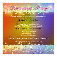 Hippie Sparkling Light Retirement Party Invitation
