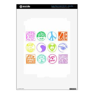 Hippie Stamps iPad 3 Skins