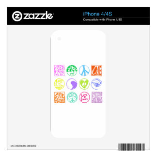 Hippie Stamps iPhone 4S Skin