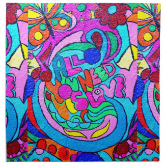 hippie style colorful napkins