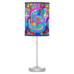 hippie style groovy love table lamp