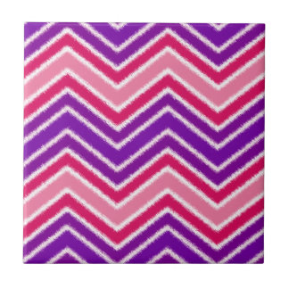Hippie Style Pink and Purple Chevron Pattern Ceramic Tile