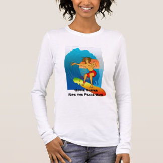 Hippie Surfer Peace Wave Long Sleeve T-Shirt