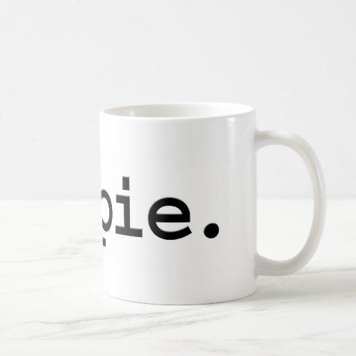 hippie. taza básica blanca