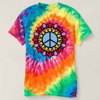 Hippie Tee Tie Dye Peace Sign