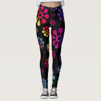 Hippie themed colorful leggings