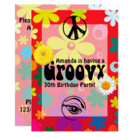 Hippie Themed Party Invitation