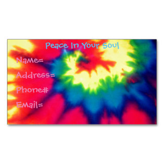 Hippie Tie Dye Magnet Business Card