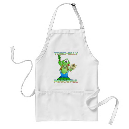 Hippie Toad Adult Apron