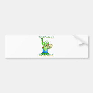 Hippie Toad Bumper Sticker