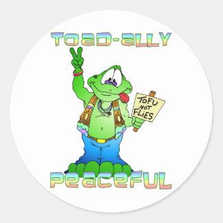 Hippie Toad Classic Round Sticker