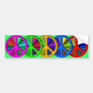Hippie Trippy Peace Sign Bumper Sticker