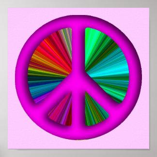 Hippie Trippy Peace Sign Print