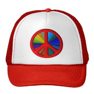 Hippie Trippy Peace Sign Trucker Hat