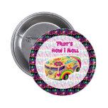 hippie van how i roll buttons