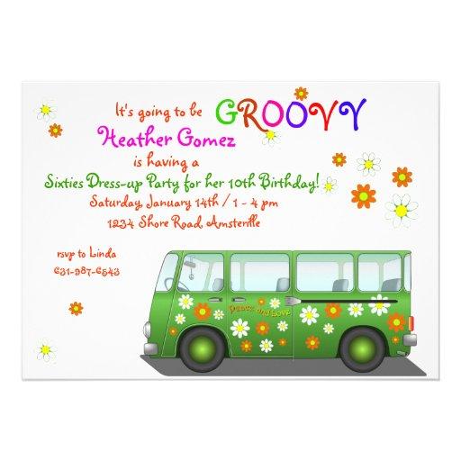 Hippie Van Invitation Anuncios Personalizados