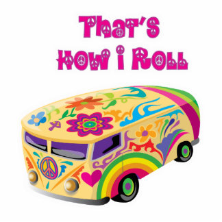 hippie van retro  how i roll acrylic cut out