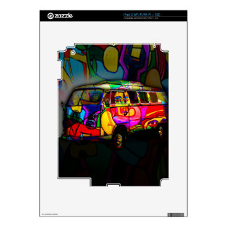 Hippie van skins for the iPad 2