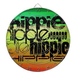 Hippie; Verde vibrante, naranja, y amarillo