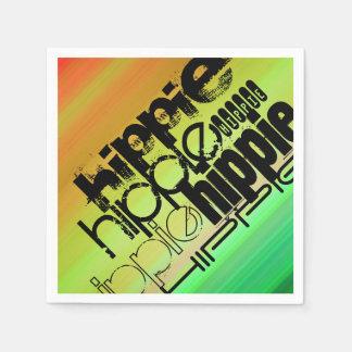 Hippie; Vibrant Green, Orange, & Yellow Paper Napkin