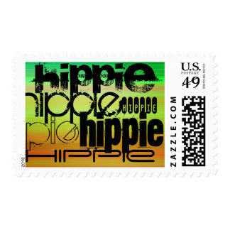 Hippie; Vibrant Green, Orange, & Yellow Postage