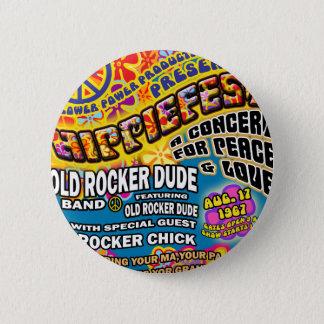Hippiefest Concert Poster Button