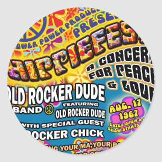 Hippiefest Concert Poster Stickers