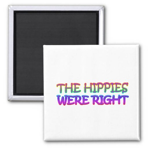 hippies 2 inch square magnet