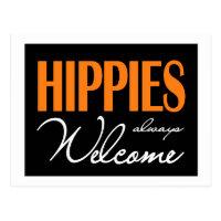 Hippies always welcome postcard