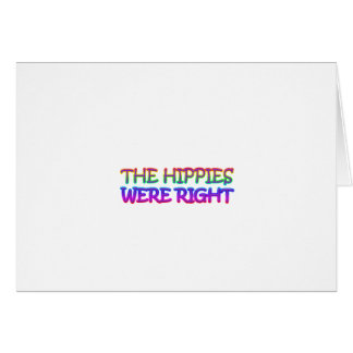 hippies greeting cards