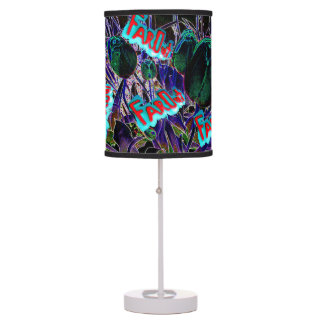hIPPIES FAR OUT table lamp INTERESTING