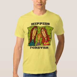 HIPPIES FOREVER T SHIRT