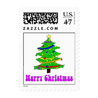 Hippie's Happy Christmas Tree Postage