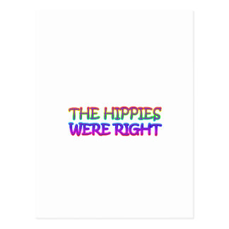 hippies post card