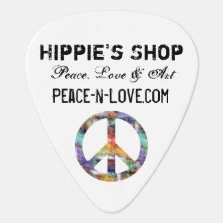 Hippie's Shop Promotional Value Peace Sign Guitar Pick