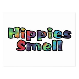 Hippies Smell Postcard
