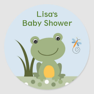 Hippity Frog Baby Shower Envelope Seals Stickers