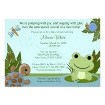 Hippity Frog Baby Shower Invitation turtle snail