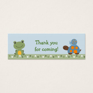 Hippity Frog Turtle Baby Shower Favor Gift Tags