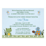 Hippity Frog Turtle Baby Shower Invitations