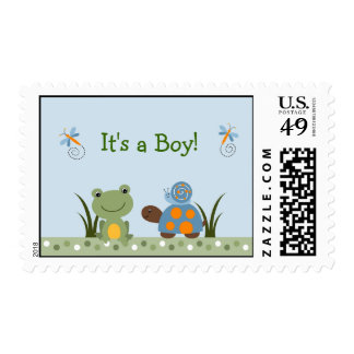 Hippity Frog Turtle Custom Postage Stamps