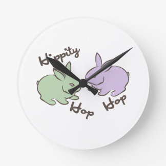 Hippity Hop Round Wall Clock