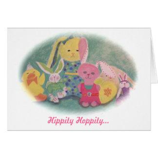 """""""Hippity Hoppity"""" Easter Card"""
