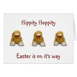 HIPPITY HOPPITY EASTER WISHES GREETING CARD