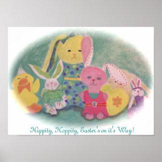 Hippity salto… Poster de Pascua
